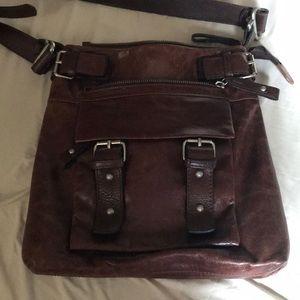 Tano Pure Leather Crossbody Bag